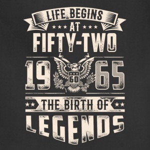 Life Begins At Fifty Two Tshirt - Adjustable Apron