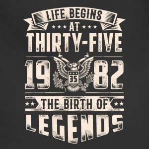 Life Begins at Thirty-Five Legends 1982 for 2017 - Adjustable Apron
