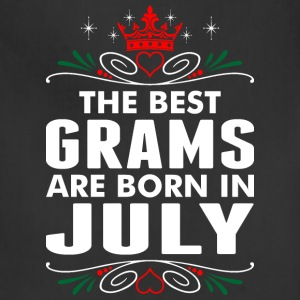 The Best Grams Are Born In July - Adjustable Apron