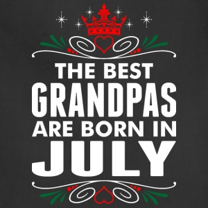 The Best Grandpas Are Born In July - Adjustable Apron