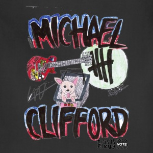 Michael Clifford Guitar & Southy print TRANSPARENT - Adjustable Apron
