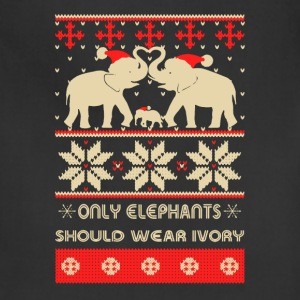 Elephants Christmas Shirt - Adjustable Apron