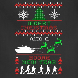 Army Christmas Tee Shirt - Adjustable Apron