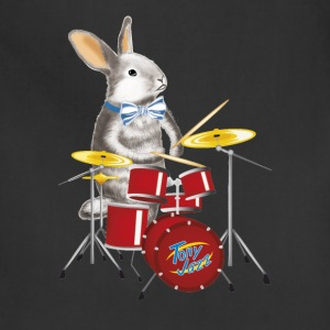 musician Rabbit with drum - Adjustable Apron