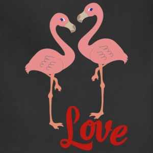 flamingo in love - Adjustable Apron