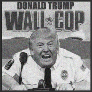 DONALD TRUMP WALL COP - Adjustable Apron