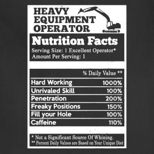 Heavy Equipment Operator Nutrition Facts - Adjustable Apron