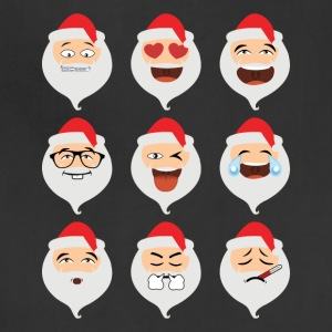 Santa Claus Asian Emojis Christmas Funny TShirt - Adjustable Apron