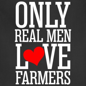 Only Real Men Love Farmers - Adjustable Apron
