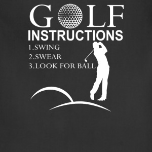Golf Instructions - Adjustable Apron