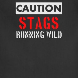 Caution stags running wild - Adjustable Apron