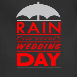 Rain on your wedding day - Adjustable Apron