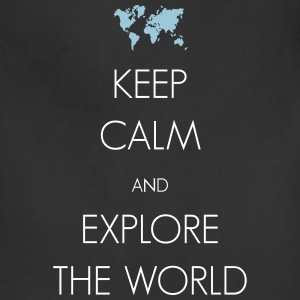 Keep calm and explore the world - Adjustable Apron