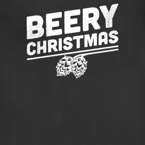 Beery Christmas Hops Drinking Beer Funny - Adjustable Apron