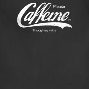 Caffeine Please Funny - Adjustable Apron