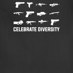 Celebrate Diversity Funny - Adjustable Apron