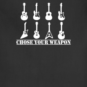 Choose Your Weapon Guitar Funny retro music guitar - Adjustable Apron