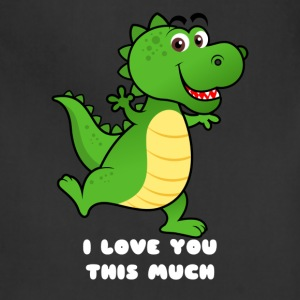 Cute Dino I love you this much - Adjustable Apron