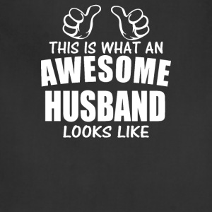 This Is What An Awesome Husband Looks Like Funny - Adjustable Apron