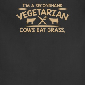 Im A Second Hand Vegetarian Cows - Adjustable Apron