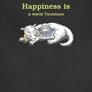 Happiness a warm tauntaun - Adjustable Apron
