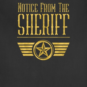 Notice from the sheriff - Adjustable Apron