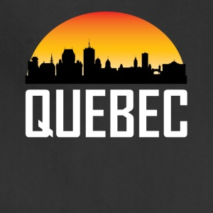 Sunset Skyline Silhouette of Quebec QC - Adjustable Apron