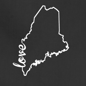 Maine Love State Outline - Adjustable Apron