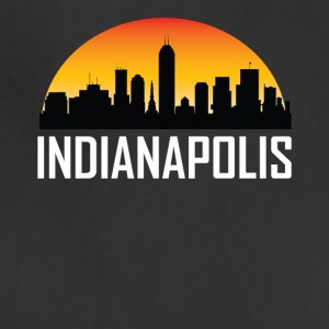 Sunset Skyline Silhouette of Indianapolis IN - Adjustable Apron