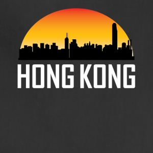 Sunset Skyline Silhouette of Hong Kong China - Adjustable Apron