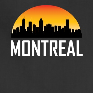 Sunset Skyline Silhouette of Montreal QC - Adjustable Apron