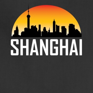 Sunset Skyline Silhouette of Shanghai China - Adjustable Apron