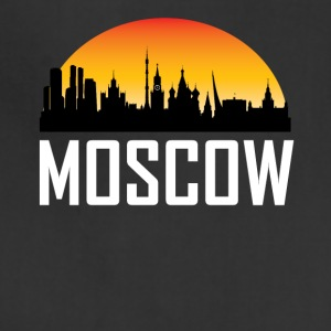 Sunset Skyline Silhouette of Moscow Russia - Adjustable Apron