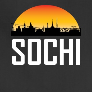 Sunset Skyline Silhouette of Sochi Russia - Adjustable Apron