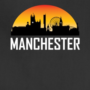 Sunset Skyline Silhouette of Manchester England - Adjustable Apron