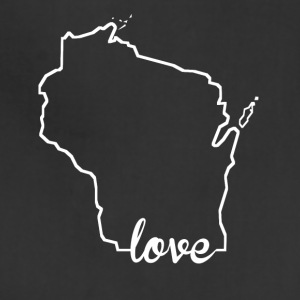 Wisconsin Love State Outline - Adjustable Apron