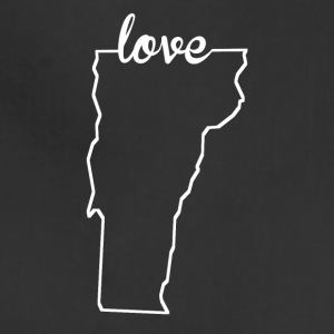 Vermont Love State Outline - Adjustable Apron