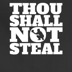 Thou Shall Not Steal Funny Baseball Catcher - Adjustable Apron