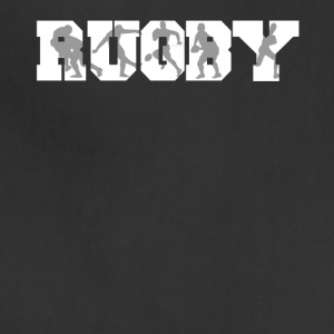 Rugby Rugger Silhouettes Rugby - Adjustable Apron