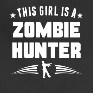 This Girl Is A Zombie Hunter Funny Zombie - Adjustable Apron