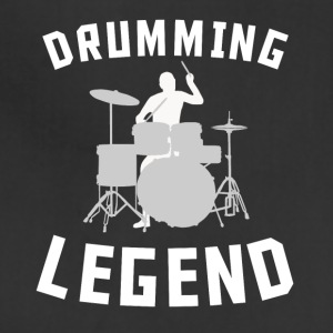 Drumming Legend Cool Drummer Silhouette Music - Adjustable Apron