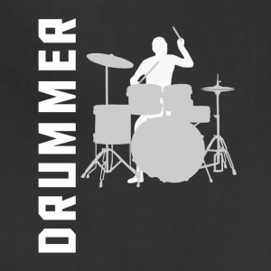 Drummer Silhouette Cool Drumming - Adjustable Apron