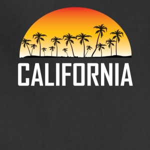 California Sunset And Palm Trees Beach Vacation - Adjustable Apron