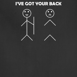 I've got your back stick figure - Adjustable Apron