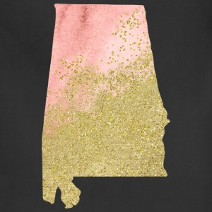 Alabama State Watercolor in Peach and Gold - Adjustable Apron