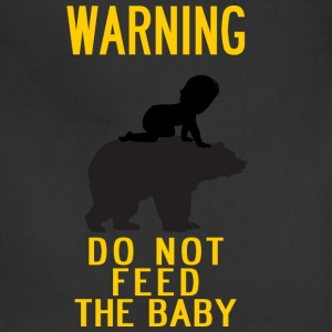 warning do not feed the bear and baby YELLOW - Adjustable Apron