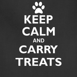 Keep Calm And Carry Treats Funny Dog Training Trai - Adjustable Apron