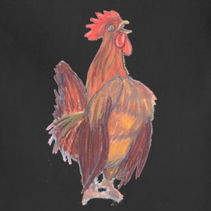 Drawn by hand rooster wake-up call - Adjustable Apron