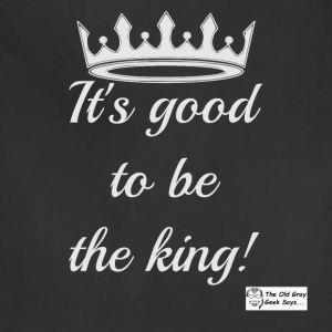 It's Good To Be The King! (light design) - Adjustable Apron