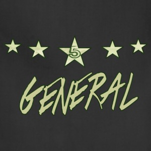 The Khaki General; khaki bold, with green finishes - Adjustable Apron
